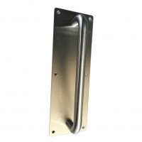 Pull handle on plate, Stainless Steel, 100 x 300 x 1.5mm